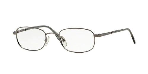 7pm view of Brooks Brothers Eyeglasses - Stylish Oval BB 363 1150 50 GUNMETAL CLEAR DEMO LENS Men's Full Rim