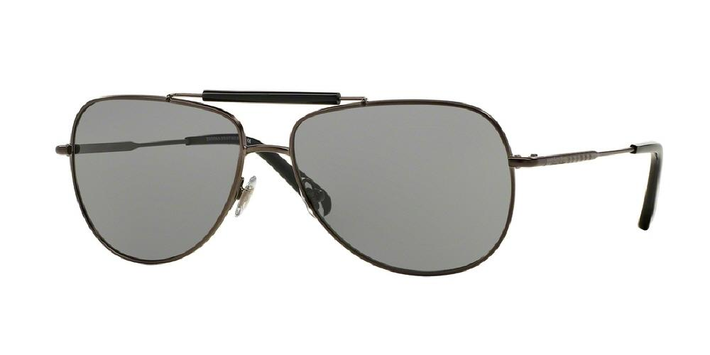 7pm view of Brooks Brothers Sunglasses - MODERN (BB) AVIATOR BB4036S 115087 60 GUNMETAL GREY SOLID Men's Full Rim