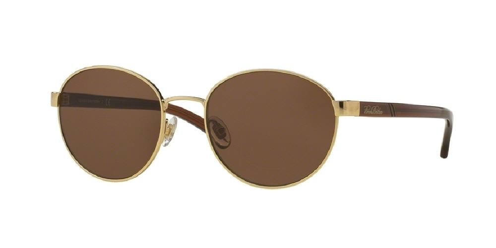 7pm view of Brooks Brothers Sunglasses - MODERN (BB) BB4037S 100173 52 GOLD POLARIZED BROWN Men's Round Full Rim