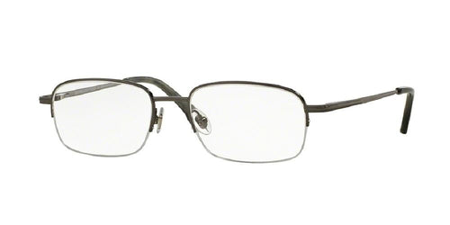 7pm view of Brooks Brothers Eyeglasses - BB 487T Pillow BB 487T 1511T 52 DARK GUNMETAL CLEAR DEMO LENS Men's Semi Rim