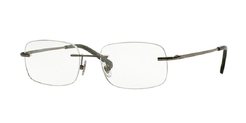 7pm view of Brooks Brothers Eyeglasses - BB 495T Rectangle BB 495T 1507T 54 GUNMETAL CLEAR DEMO LENS Men's Rimless