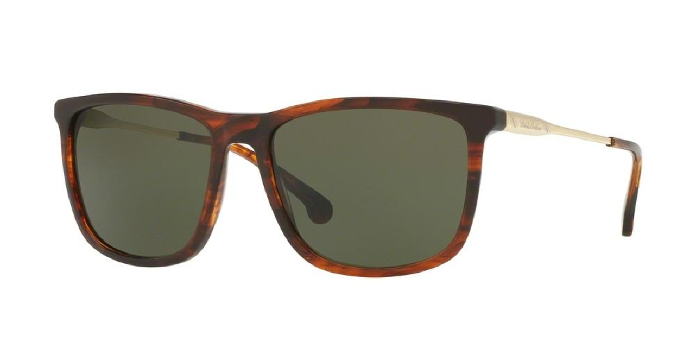 7pm view of Brooks Brothers Sunglasses - CLASSIC (BB) BB5033S 610271 57 BROWN HORN GOLD GREEN SOLID Men's Square Full Rim