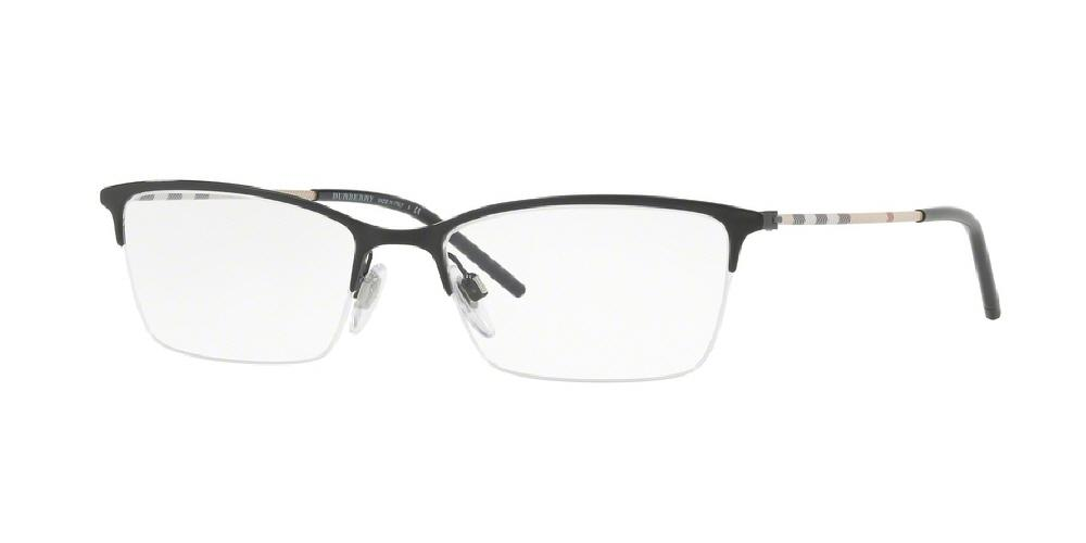 1882886d5725 7pm view of Burberry Eyeglasses - HERITAGE CAT EYE BE1278 1001 53 BLACK  CLEAR DEMO LENS