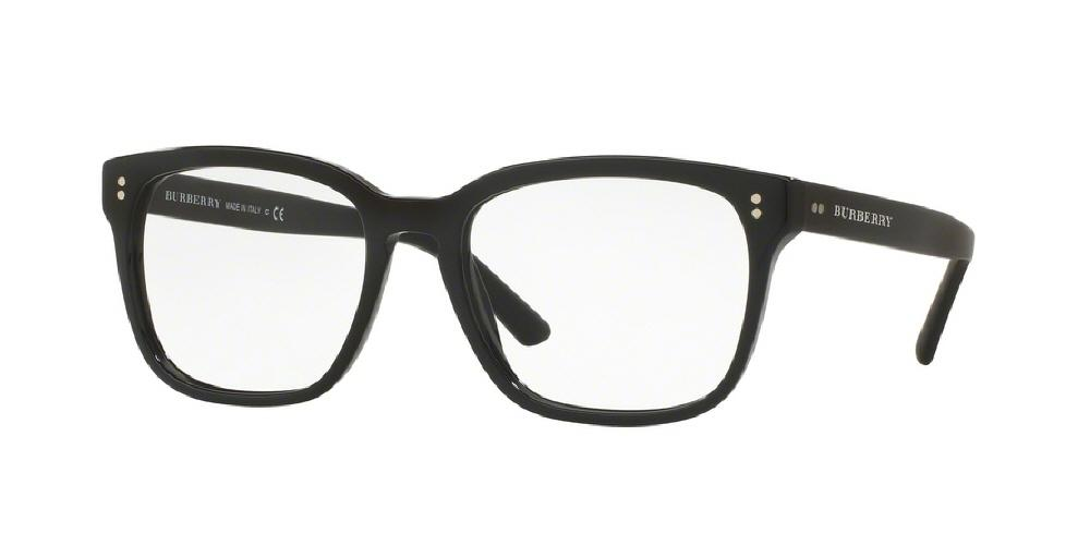 7pm view of Burberry Eyeglasses - TAILORING BE2225 3001 55 BLACK CLEAR DEMO LENS Men's Square Full Rim