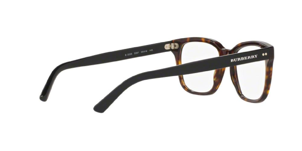 9882a79e0c0d 1pm view of Burberry Eyeglasses - TAILORING BE2225 3397 55 DARK TORTOISE  HAVANA CLEAR DEMO LENS