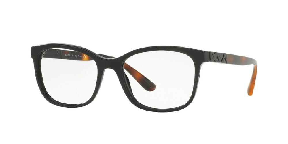 7pm view of Burberry Eyeglasses - HERITAGE BE2242 3001 53 BLACK CLEAR DEMO LENS Women's Square Full Rim