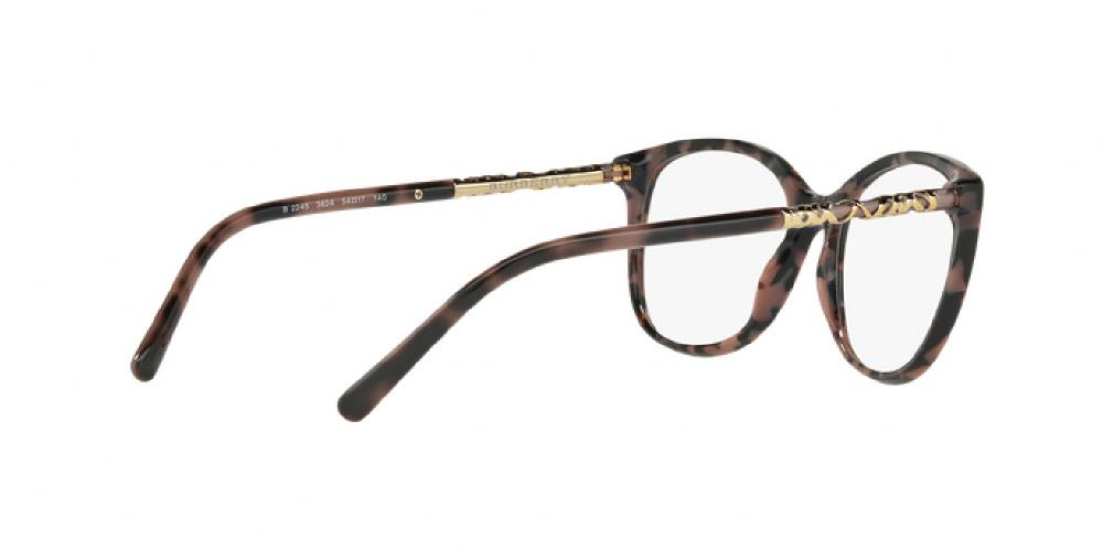 d416791f27 1pm view of Burberry Eyeglasses - HERITAGE ROUND BE2245F 3624 54 SPOTTED  BROWN CLEAR DEMO LENS