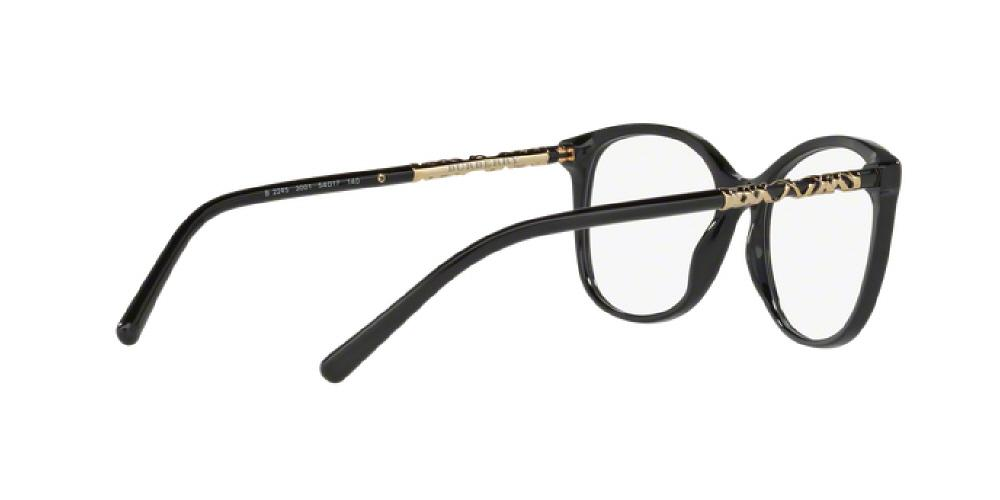 f7acf043477 1pm view of Burberry Eyeglasses - HERITAGE ROUND BE2245 3001 52 BLACK CLEAR  DEMO LENS Women s