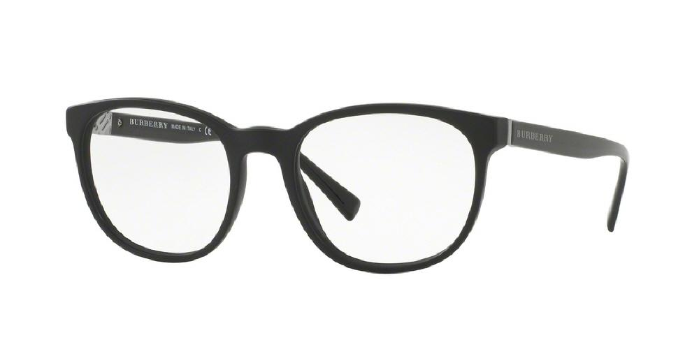 7pm view of Burberry Eyeglasses - TAILORING BE2247 3001 52 MATTE BLACK CLEAR DEMO LENS Men's Square Full Rim