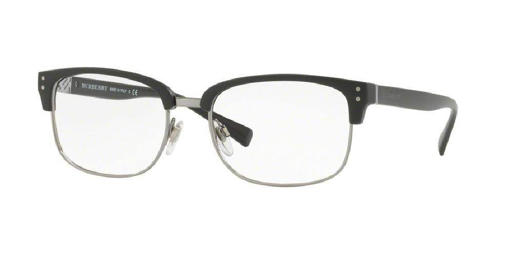 7pm view of Burberry Eyeglasses - TAILORING BE2253 3464 54 MATTE BLACK CLEAR DEMO LENS Men's Square Full Rim