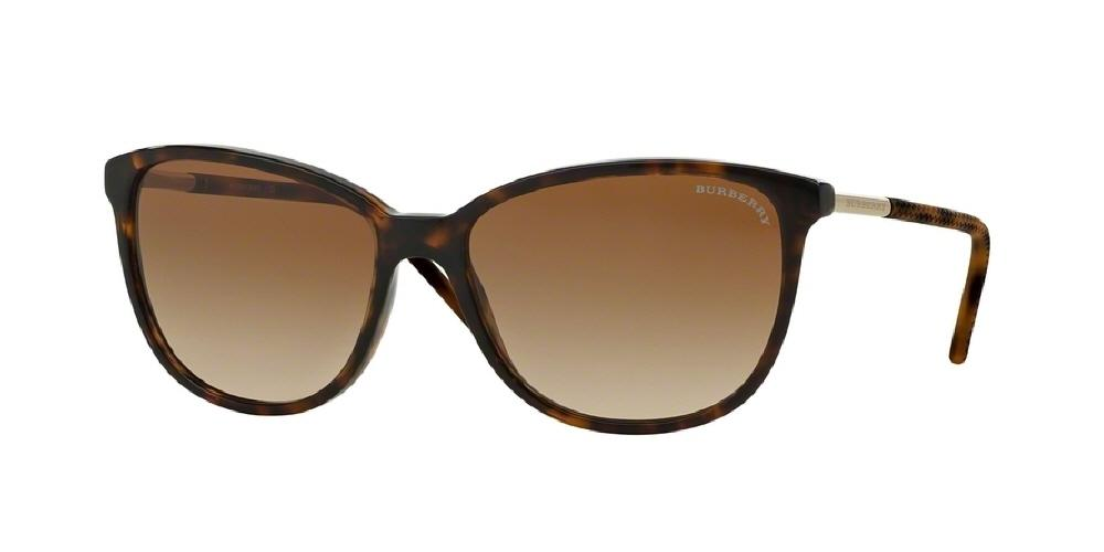 e6c1a771e26b 7pm view of Burberry Sunglasses - ACOUSTIC CAT EYE BE4180 300213 57 GRADIENT  DARK TORTOISE HAVANA