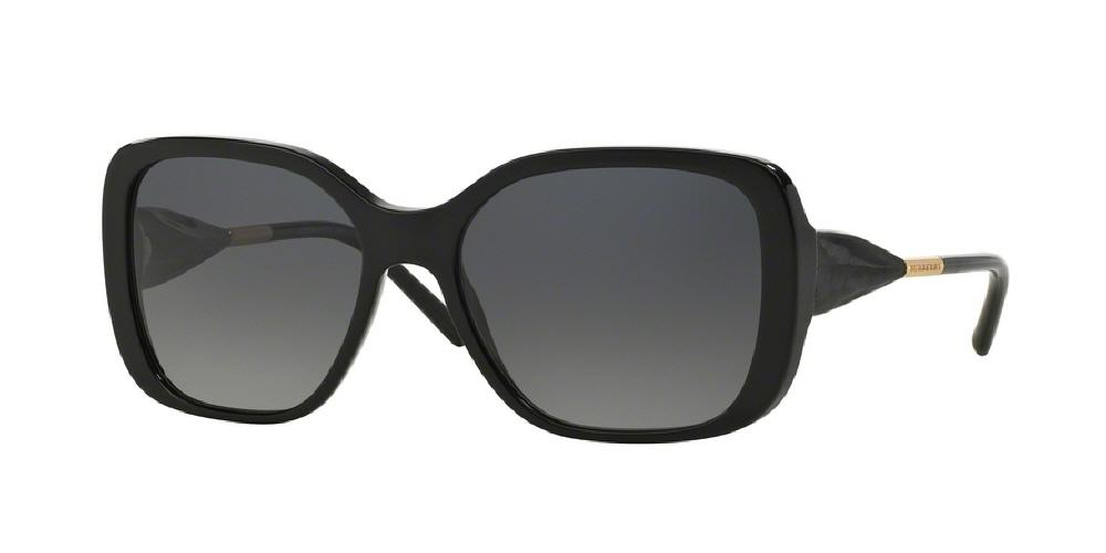 7pm view of Burberry Sunglasses - HERITAGE BE4192 3001T3 56 BLACK POLARIZED GREY GRADIENT Women's Square Full Rim