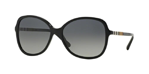 7pm view of Burberry Sunglasses - HERITAGE CAT EYE BE4197F 3001T3 58 POLARIZED GRADIENT BLACK GREY Women's Full Rim Butterfly