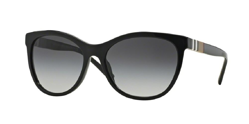 7pm view of Burberry Sunglasses - ACOUSTIC CAT EYE BE4199 30018G 58 BLACK GRAY GRADIENT Women's Full Rim Butterfly