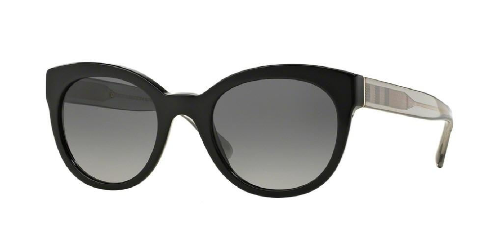 7pm view of Burberry Sunglasses - ACOUSTIC BE4210F 3001T3 52 BLACK POLARIZED GREY GRADIENT Women's Round Full Rim