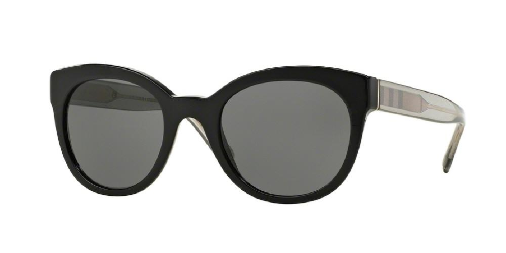 7pm view of Burberry Sunglasses - ACOUSTIC CAT EYE BE4210 300187 52 BLACK GRAY Women's Full Rim Butterfly