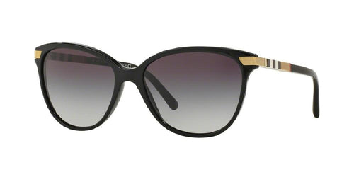7pm view of Burberry Sunglasses - HERITAGE CAT EYE BE4216 30018G 57 GRADIENT BLACK CRYSTAL GRAY Women's Full Rim Butterfly
