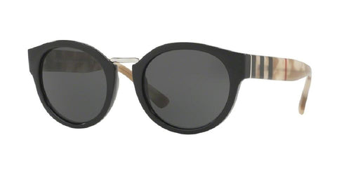 7pm view of Burberry Sunglasses - ACOUSTIC BE4227 360087 50 BLACK GREY Women's Round Rimless