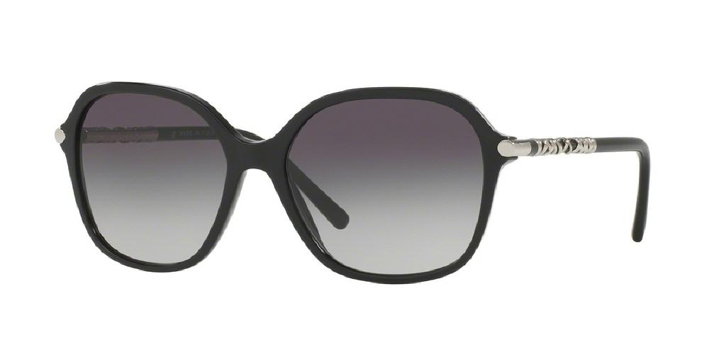 7pm view of Burberry Sunglasses - HERITAGE BE4228 30018G 57 BLACK GRAY GRADIENT Women's Full Rim