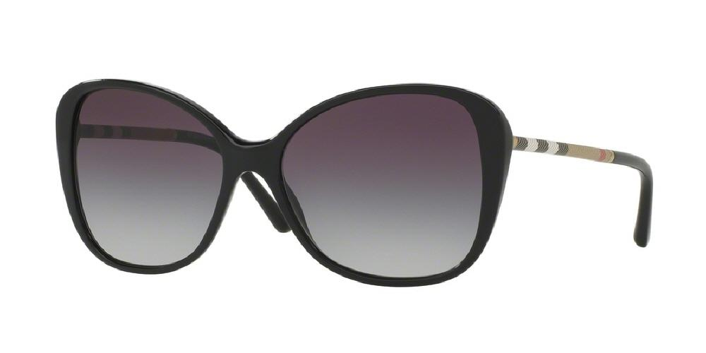 7pm view of Burberry Sunglasses - HERITAGE CAT EYE BE4235Q 30018G 57 GRADIENT BLACK GRAY Women's Full Rim Butterfly