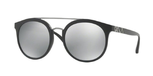 7pm view of Burberry Sunglasses - ACOUSTIC ROUND BE4245 3464Z3 53 POLARIZED MIRROR MATTE BLACK GREY SILVER 80 Men's Full Rim