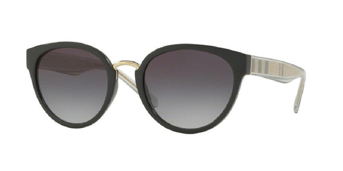 7pm view of Burberry Sunglasses - FUN ABOUT TOWN CAT EYE BE4249 30018G 53 GRADIENT BLACK GREY Women's Full Rim Butterfly