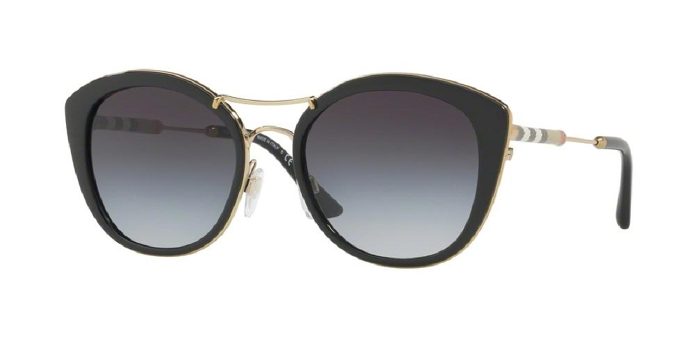 7pm view of Burberry Sunglasses - FUN ABOUT TOWN ROUND BE4251Q 30018G 53 BLACK GRAY GRADIENT Women's Full Rim