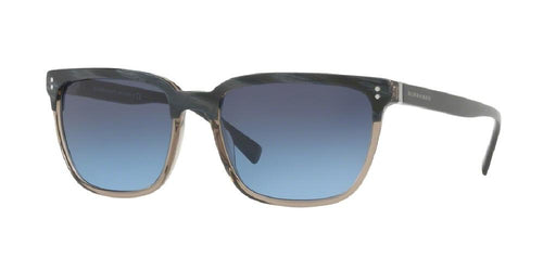 7pm view of Burberry Sunglasses - FUN ABOUT TOWN BE4255 3661S2 56 GRADIENT TOP STRIPED BLUE ON GREY Men's Square Full Rim