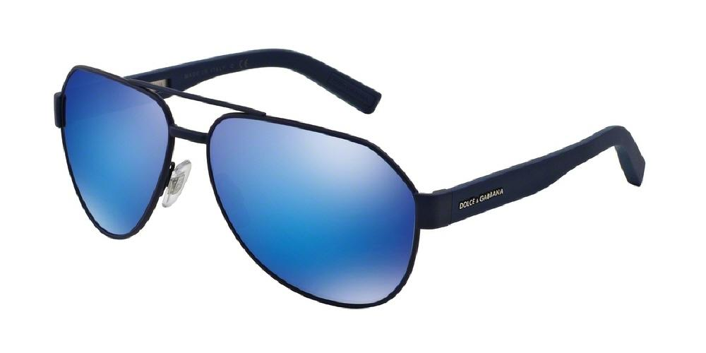 7pm view of dolce gabbana sunglasses sporty inspired aviator dg2149 127325 61 mirror blue - Dolce And Gabbana Frames