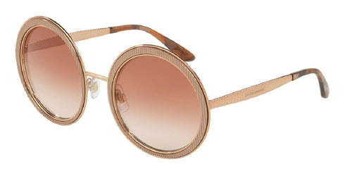 7pm view of Dolce & Gabbana Sunglasses - FUN ABOUT TOWN Round DG2179 129813 54 PINK GOLD GRADIENT Women's Full Rim