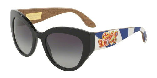 7pm view of Dolce & Gabbana Sunglasses - DNA CAT EYE DG4278 501/8G 52 GRADIENT BLACK GREY Women's Full Rim Butterfly