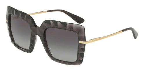 7pm view of Dolce & Gabbana Sunglasses - FUN ABOUT TOWN DG6111 504/8G 51 GRADIENT TRANSPARENT GREY GRY Women's Square