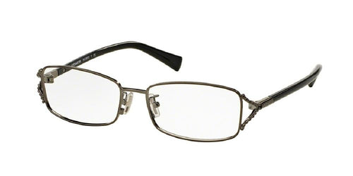 7pm view of Coach Eyeglasses - UPTOWN HC5073 9017 52 DARK SILVER BLACK CLEAR DEMO LENS Women's Rectangle Full Rim