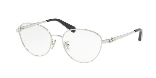 7pm view of Coach Eyeglasses - FUN ABOUT TOWN HC5088 9001 51 SILVER CLEAR DEMO LENS Women's Oval Full Rim