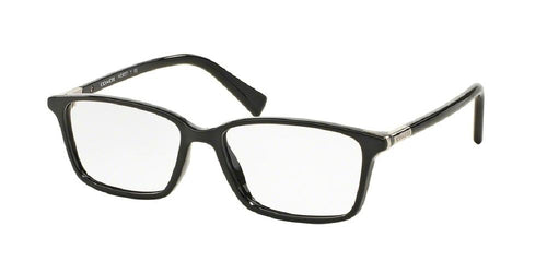 7pm view of Coach Eyeglasses - UPTOWN HC6077 5002 53 BLACK CLEAR DEMO LENS Women's Rectangle Full Rim
