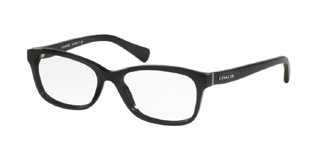 7pm view of Coach Eyeglasses - DOWNTOWN HC6089 5002 49 BLACK CLEAR DEMO LENS Women's Rectangle Full Rim