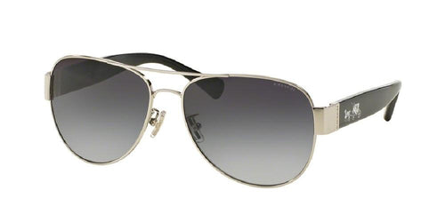 7pm view of Coach Sunglasses - L138 CORE AVIATOR HC7059 901511 58 GRADIENT SILVER BLACK LIGHT GREY Women's Full Rim