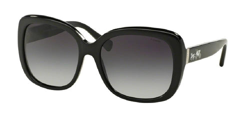 7pm view of Coach Sunglasses - L139 CORE HC8158 500211 58 BLACK LIGHT GREY GRADIENT Women's Square Full Rim