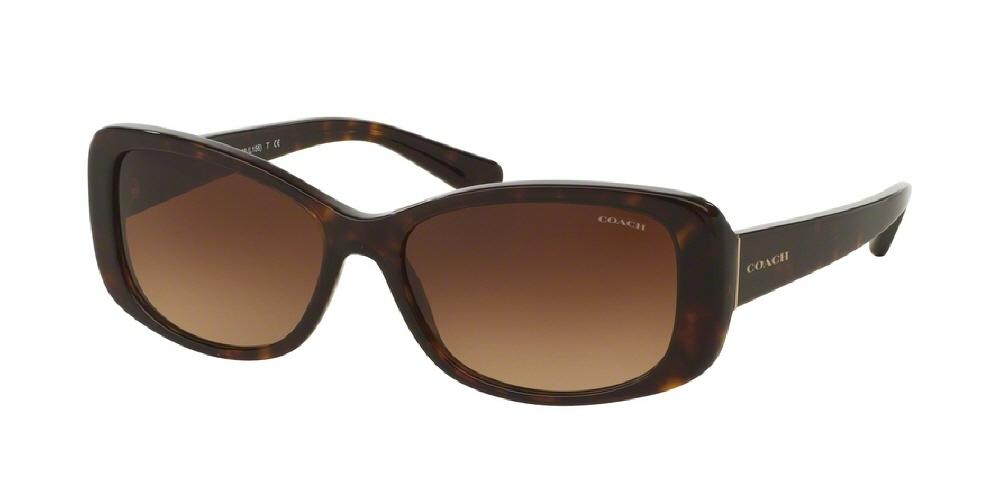 7pm view of Coach Sunglasses - CORE HC8168F 512013 56 GRADIENT DARK HAVANA TORTOISE BROWN Women's Rectangle