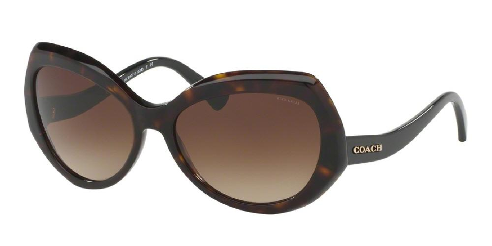 7pm view of Coach Sunglasses - L1588 DOWNTOWN HC8177 524413 59 GRADIENT DARK HAVANA TORTOISE BLACK DARK BROWN Women's Full Rim