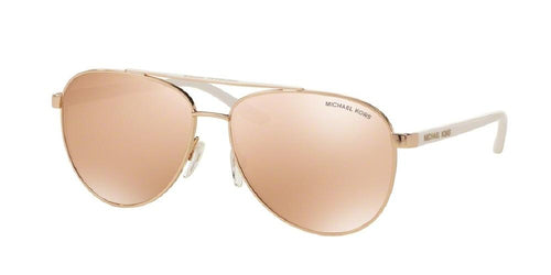 7pm view of Michael Kors Sunglasses - HVAR SPORTY AVIATOR MK5007 1080R1 56 ROSE GOLD MIRROR PINK FLASH Women's Full Rim