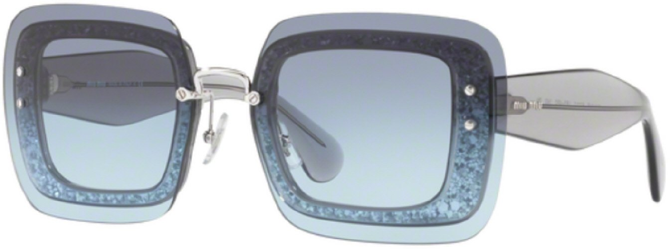 e33d365a670 7pm view of Miu Miu Sunglasses - FUN ABOUT TOWN MU 01RS USE4R2 67 GRADIENT  TRANSPARENT
