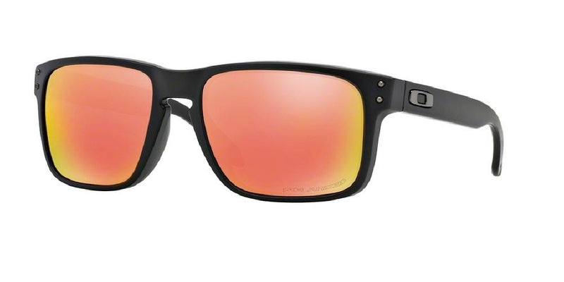 ed13fe09ee Oakley Sunglasses - HOLBROOK OO9102 910251 55 POLARIZED MIRROR MATTE BLACK  RUBY IRIDIUM RED Men s Square