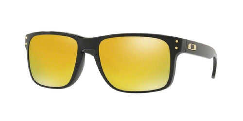 7pm view of Oakley Sunglasses - OO9102 9102E3 55 MIRROR POLISHED BLACK S WHITE SS 24K IRIDIUM Men's Square Full Rim