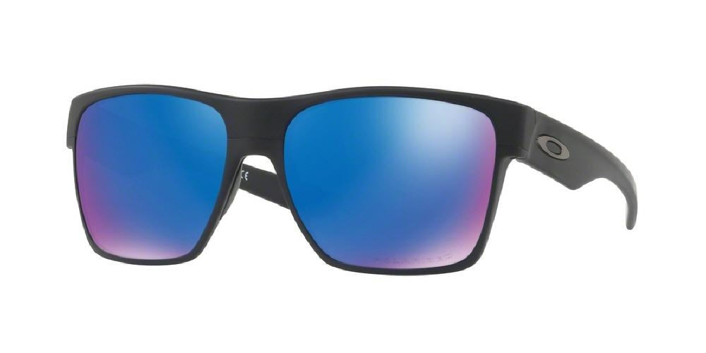 5d7d70b564 7pm view of Oakley Sunglasses - TWOFACE XL OO9350 935005 59 POLARIZED  MIRROR MATTE BLACK SAPPHIRE