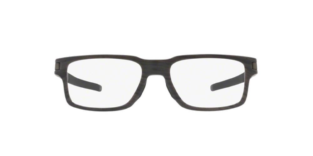 3pm view of oakley frame eyeglasses latch ex ox8115 811503 54 woodgrain wood brown clear - Wood Frame Eyeglasses