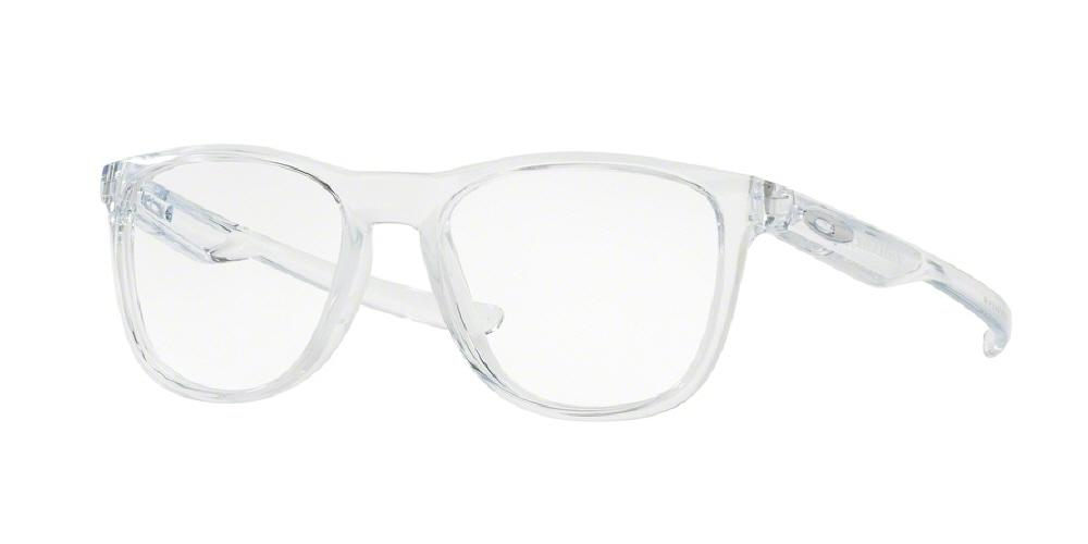 7pm view of oakley frame eyeglasses rx trillbe x round ox8130 813003 52 polished clear - White Frame Eyeglasses