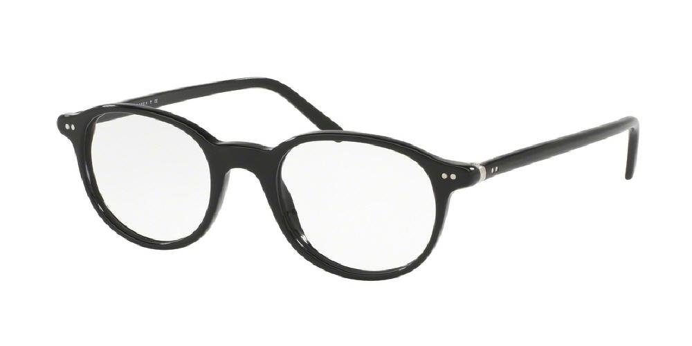 0554c155b1 12pm view of Polo Eyeglasses - HERITAGE COLLECTION PH2047 5001 48 SHINY  BLACK CLEAR DEMO LENS ...