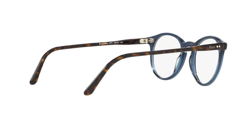 617025664d 1pm view of Polo Eyeglasses - AMERICAN CLASSIC PH2083 5276 48 BLUE  TRANSPARENT CLEAR DEMO LENS