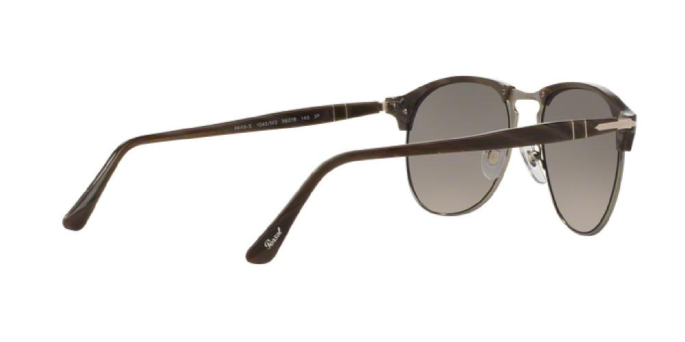 04f59bda6c 1pm view of Persol Sunglasses - ICONA AVIATOR PO8649S 1045M3 53 POLARIZED  GRADIENT DARK HORN GREEN